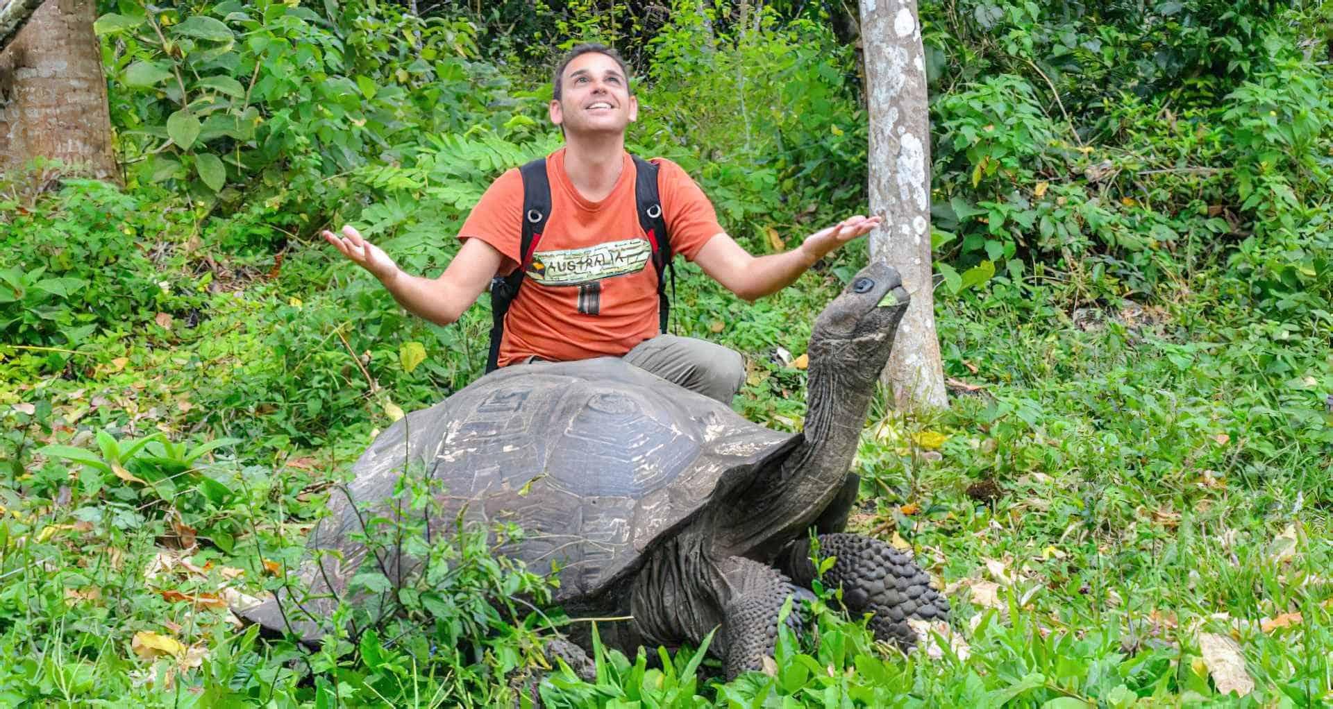 Foto de La tortuga gigante de Galápagos en Santa Cruz