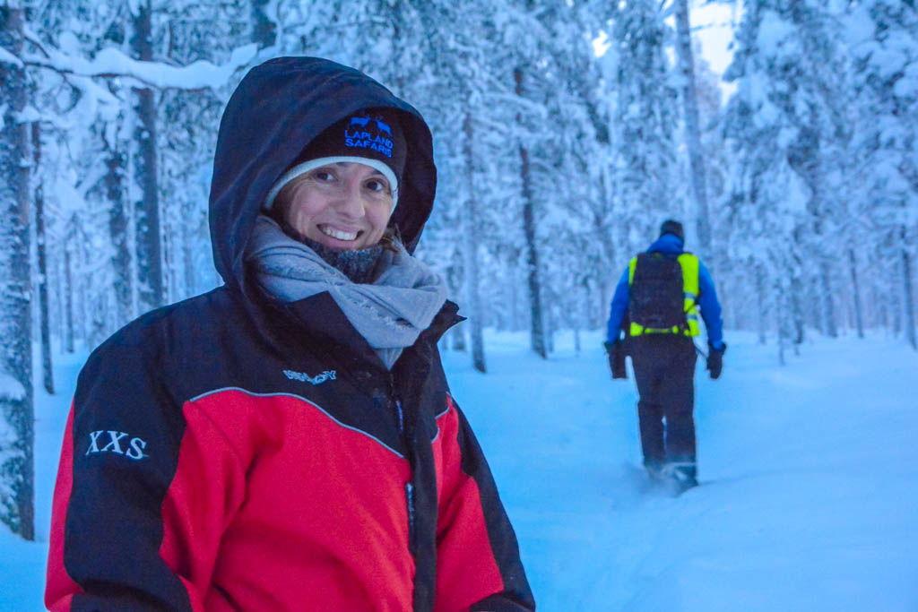 bus, finlandia, laponia, Levi, por libre, Pueblo de cuento, Raquetas de nieve, Rovaniemi, viaje en pareja