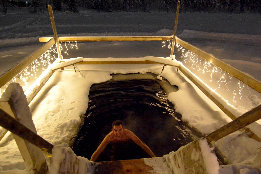 auroras boreales, finlandia, huskys, Immelkartano, laponia, Levi, por libre, sauna finlandesa, trineo de perros, viaje en pareja