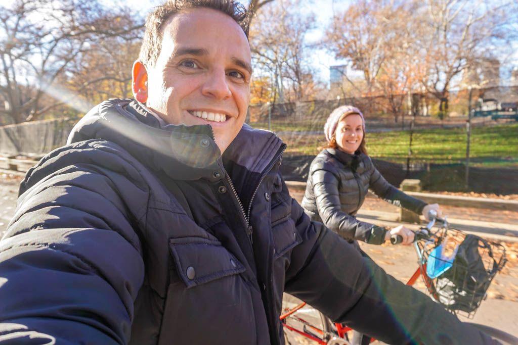 bicicleta, Central Park, Estados Unidos, Manhattan, Navidad, nueva york, por libre, rutas, viaje en pareja